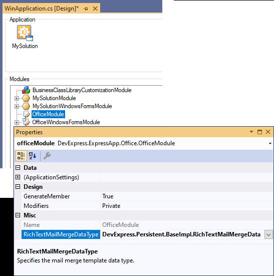 Mail Merge | eXpressApp Framework | DevExpress Documentation