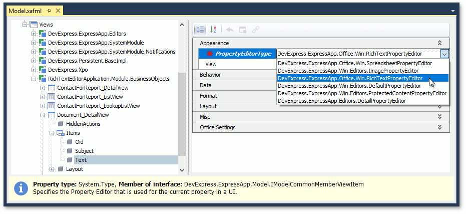 Use Rich Text Documents in Business Objects   eXpressApp