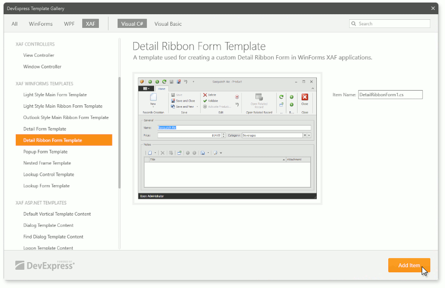 How To Create A Custom Winforms Ribbon Template